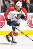 Stephen Weiss of the Florida Panthers skates during the game against the Toronto Maple Leafs on March 23 2010 at the Air Canada Centre in Toronto...