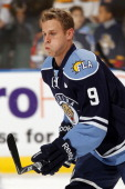 Stephen Weiss of the Florida Panthers skates on the ice prior to the start of the game against the Boston Bruins at the BankAtlantic Center on...