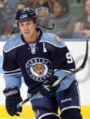 Stephen Weiss of the Florida Panthers skates the ice prior to the start of the game against the Boston Bruins at the BankAtlantic Center on December...