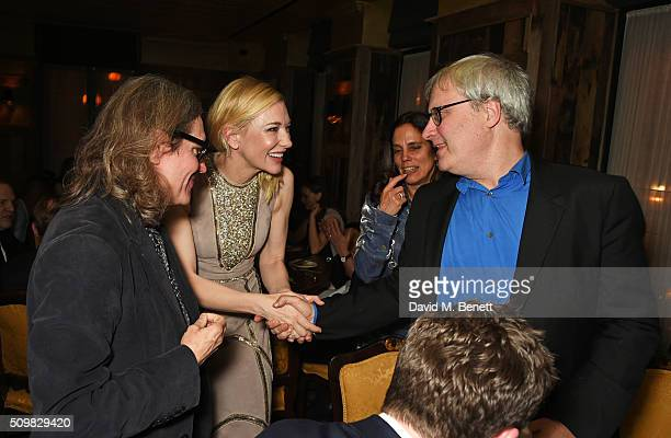 Stephen Woolley Cate Blanchett and Simon Curtis attend Harvey Weinstein's preBAFTA dinner in partnership with Burberry and GREY GOOSE at Little House...