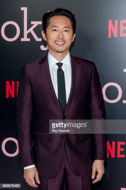 Stephen Yeun attends the New York premiere of 'Okja' at AMC Lincoln Square Theater on June 8 2017 in New York City