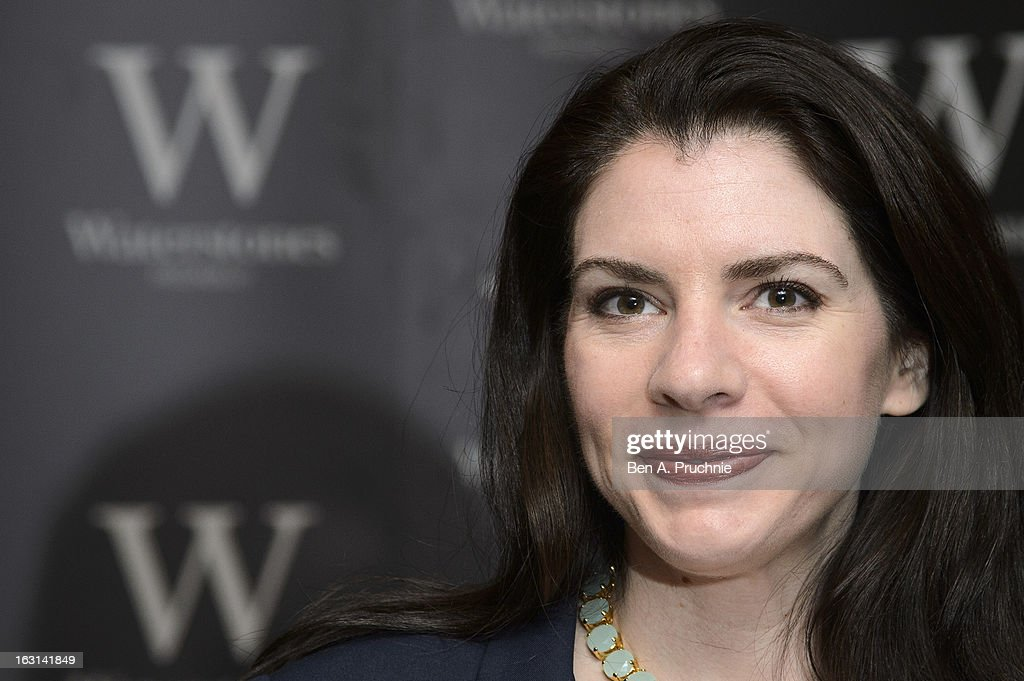 <a gi-track='captionPersonalityLinkClicked' href=/galleries/search?phrase=Stephenie+Meyer&family=editorial&specificpeople=5476076 ng-click='$event.stopPropagation()'>Stephenie Meyer</a> meets fans and signs copies of her book at Waterstones Piccadilly on March 5, 2013 in London, England.