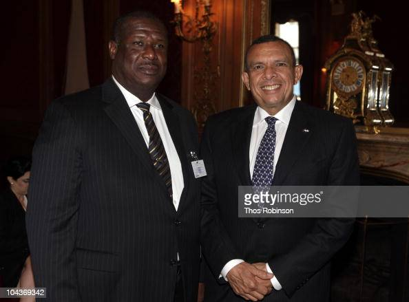 Stephenson King Prime Minister of Saint Lucia and Porfirio Lobo Sosa President of Honduras attend 2010 Blouin Creative Leadership Summit Day 1 at the...