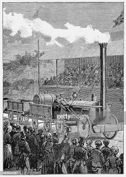 Stephenson's 'Rocket' winning the Rainhill Trials 14 October 1829 George Stephenson's locomotive 'Rocket' winning the competition held at Rainhill...