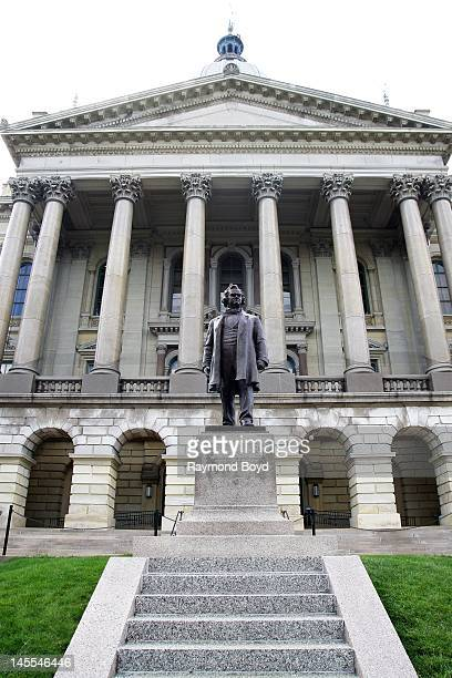 Stephon Douglas statue sits outside of the Illinois State Capitol Building in Springfield Illinois on MAY 05 2012