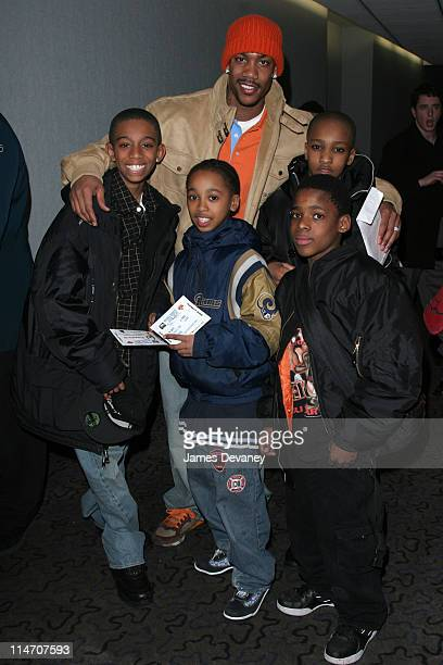Stephon Marbury and guests during Stephon Marbury and Ja Rule Join Together For The ''Knicks Poetry Slam Series'' at The Theater Lobby at Madison...