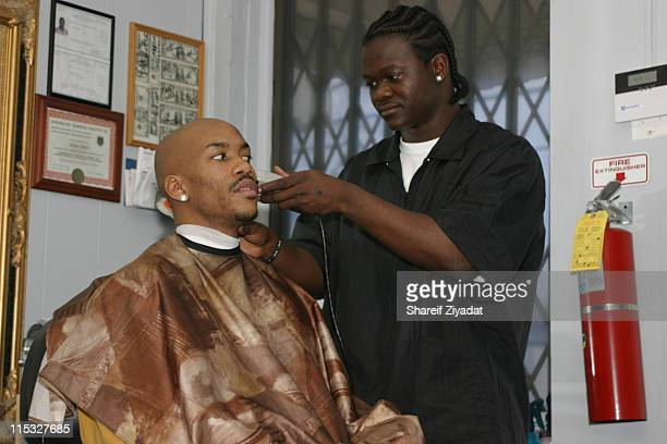 Stephon Marbury and Loose Change during Getting Haircut at All Star Kutz in White Plains NY United States
