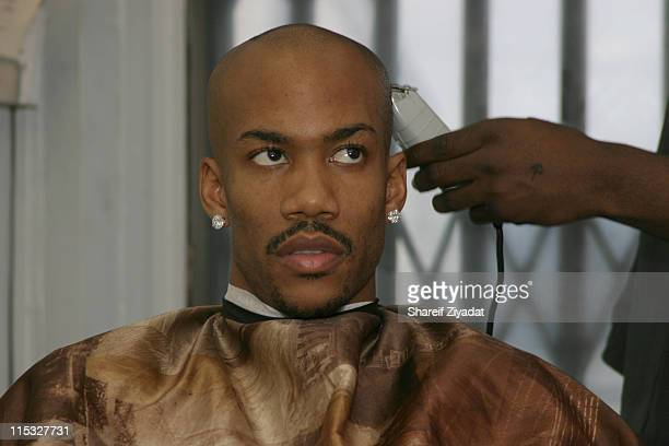 Stephon Marbury during Getting Haircut at All Star Kutz in White Plains NY United States