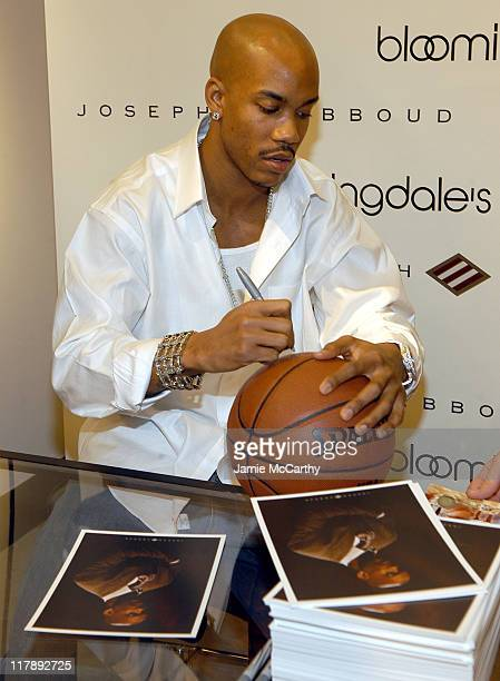 Stephon Marbury during New York Knick Stephon Marbury InStore Appearance at Joseph Abboud at Bloomingdale's at Bloomingdale's in New York City New...