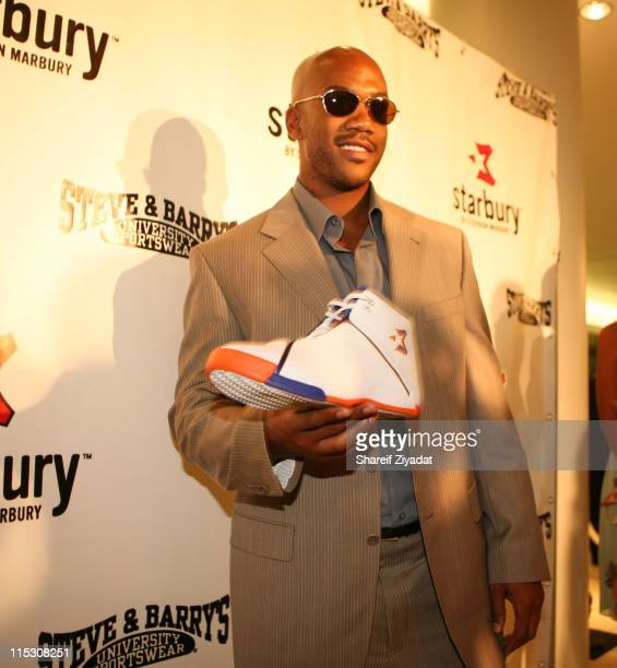 Stephon Marbury during Stephon Marbury InStore Appearance For His 'Starbury' Clothing Line VIP Room at Steve and Barry in New York City New York...