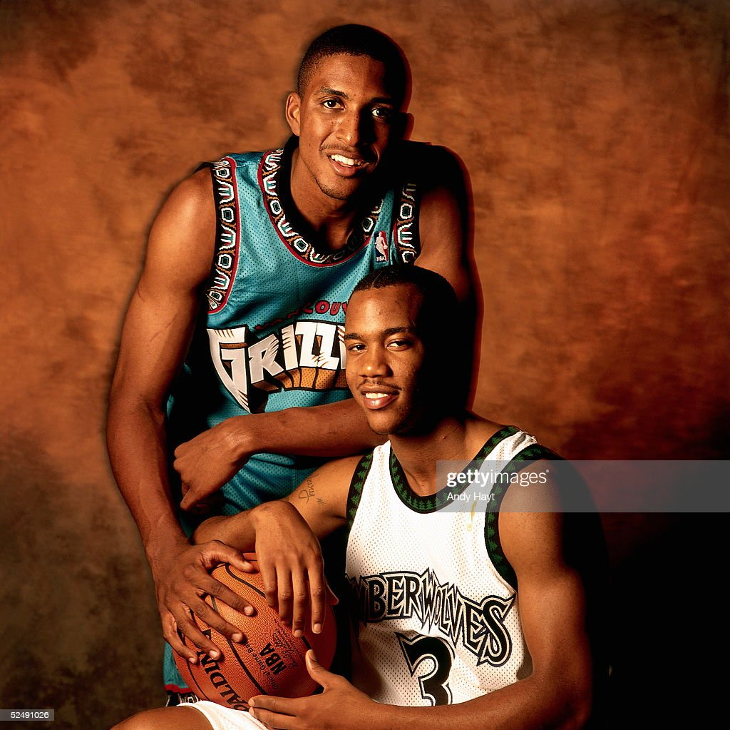 ef Abdur Rahim and Stephon Marbury Studio Portrait