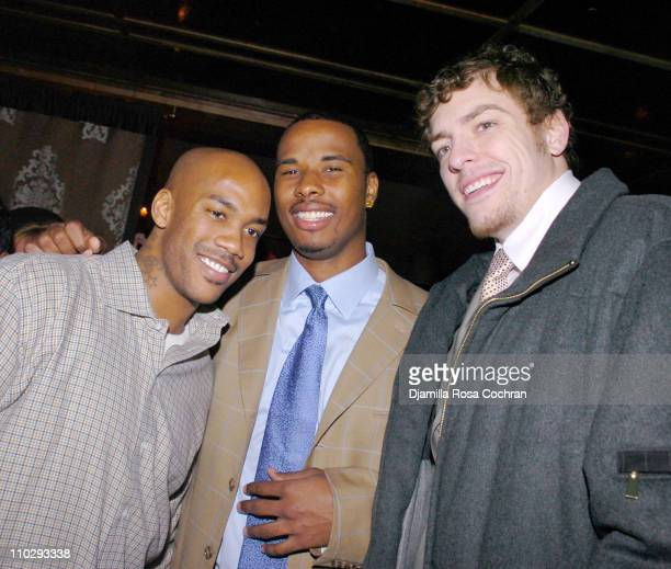 Stephon Marbury Quentin Richardson and David Lee during Party at Manor for Stephon Marbury and Steve Francis of the New York Knicks February 23 2007...