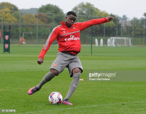 Stephy Mavididi of Arsenal during a training session at London Colney on October 24 2016 in St Albans England