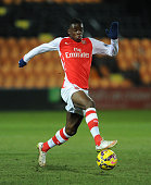 Stephy Mavididi of Arsenal during the match between Arsenal U18 and Crewe Alexandra U18 in the FA Youth Cup 5th Round at The Hive on February 23 2015...