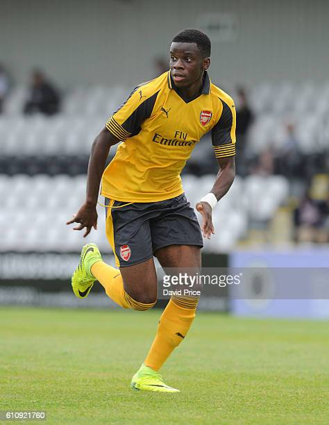 Stephy Mavididi of Arsenal during the UEFA Champions League match between Arsenal FC and FC Basel 1893 at Meadow Park on September 28 2016 in...