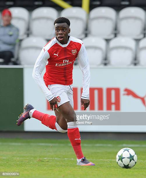 Stephy Mavididi of Arsenal during the UEFA Youth League match between Arsenal and Paris Saint Germain at Meadow Park on November 23 2016 in...