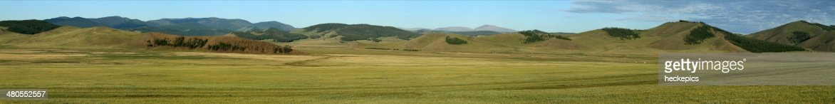 Steppenlandschaften der Mongolei : Stock Photo