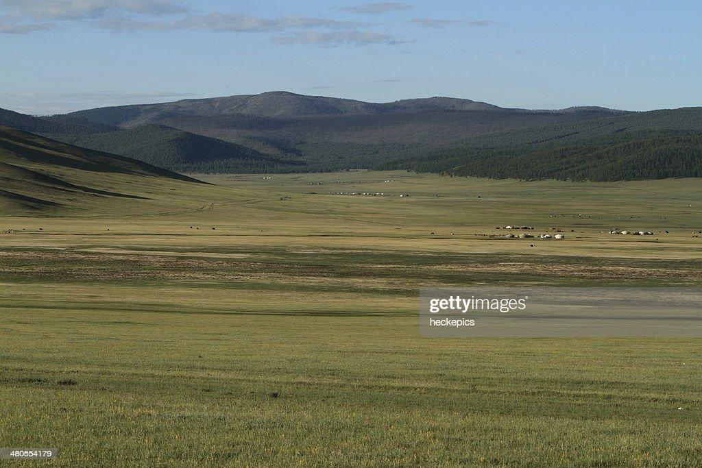 Steppenlandschaften der Mongolei : Foto de stock