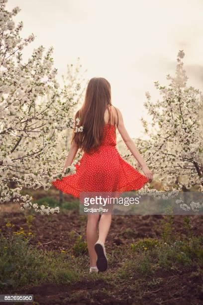 Treten in den Frühling