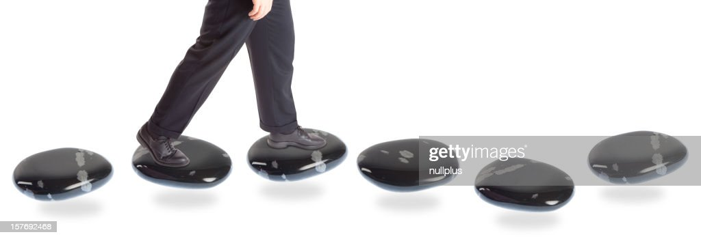 stepping stone concepts: going forward : Stock Photo