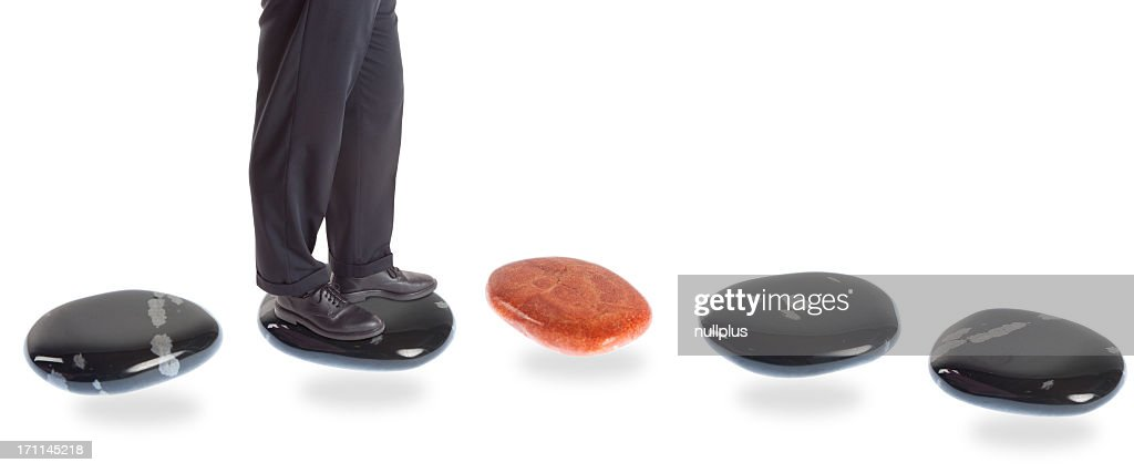 stepping stone concepts: risk : Stock Photo