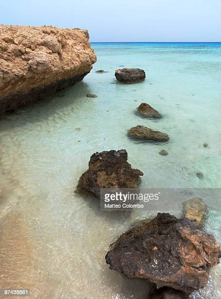 Stepping stones beach