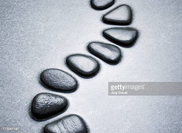 Stepping stones in shallow water