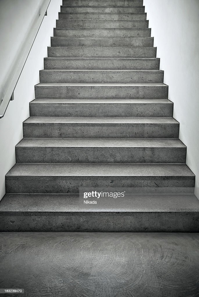 Steps at a modern architecture house