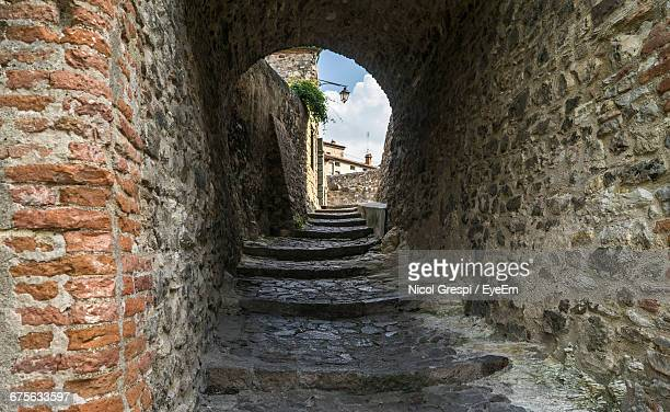 Steps In Stone Archway At Arqua Petrarca