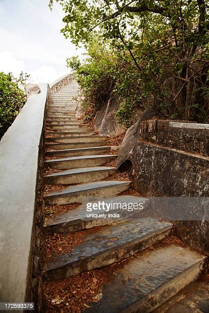 Steps leading to the Honeymoon Point, Mount Abu, Sirohi District, Rajasthan, India