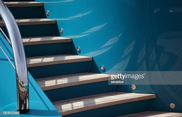 Steps on a yacht