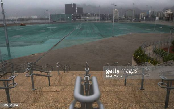 Steps remain in the mostly abandoned Olympic Park on March 18 2017 in Rio de Janeiro Brazil Seven months after the Rio hosted the first Olympic games...