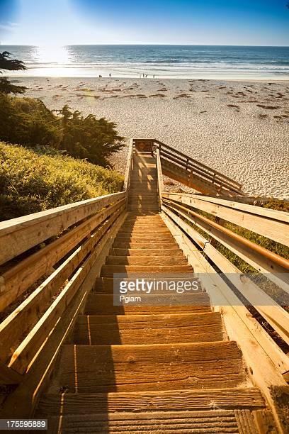 Steps to Carmel Beach in Carmel-by-the-Sea