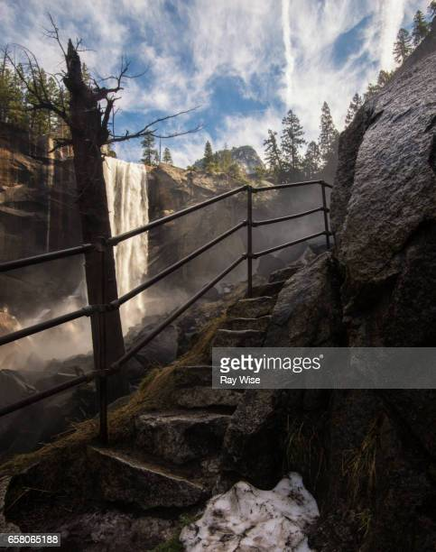 Steps to Mist Trail at Vernal Falls.