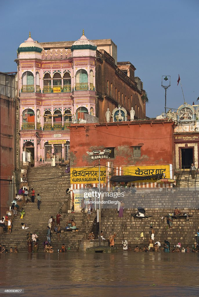 Steps to the River Ganges : Stock Photo