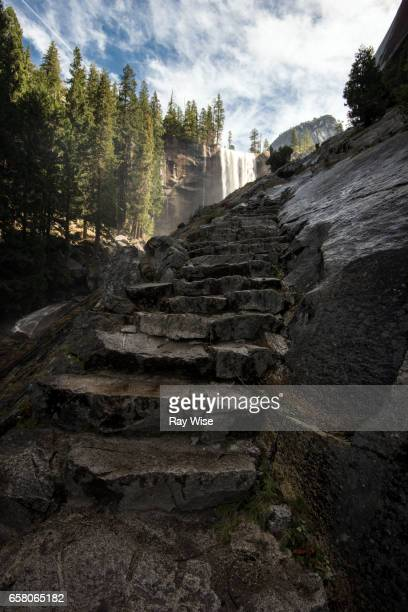 Steps up to Vernal Falls