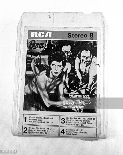 A 'Stereo 8' 8 track cartiridge of David Bowie's Diamond Dogs album United Kingdom circa 1975