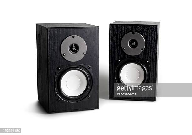 Stereo loudspeakers  w/clipping path