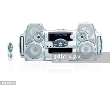 Stereo the home entertainment isolated : Stock Photo