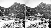 Stereograph of granite peak in Little Cottonwood Canyon Salt Lake County Utah 1872 Image courtesy USGS
