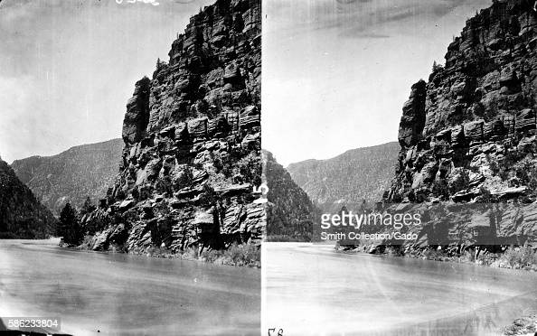 Stereograph of Green River flowing through Red Canyon Utah 1871 Image courtesy USGS