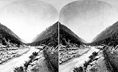 Stereograph of Little Cottonwood Canyon Salt Lake County Utah 1872 Image courtesy USGS