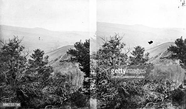 Stereograph of the Blue River as seen from near Ute Peak Colorado 1874 Image courtesy USGS