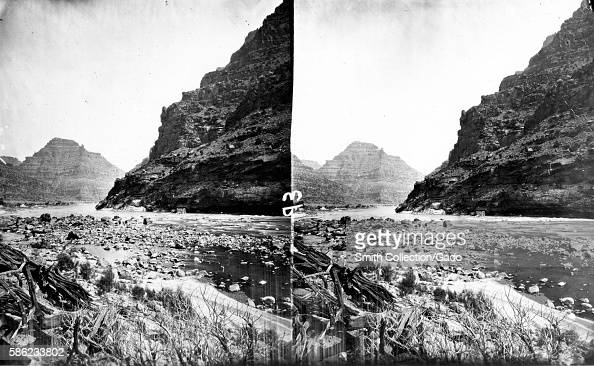 Stereograph of the Green River flowing through the Canyon of Desolation Utah 1875 Image courtesy USGS