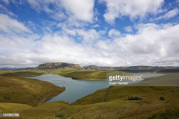 Sterkfontein Dam, Drakensberg pumped-storage scheme, Free State Province, South Africa.