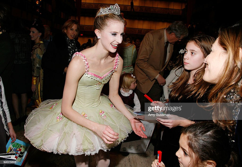 Sterling Hyltin signs autographs at the New York City Ballet & the School of American Ballet's The Nutcracker family benefit at the David H. Koch Theater, Lincoln Center on December 5, 2009 in New York City.