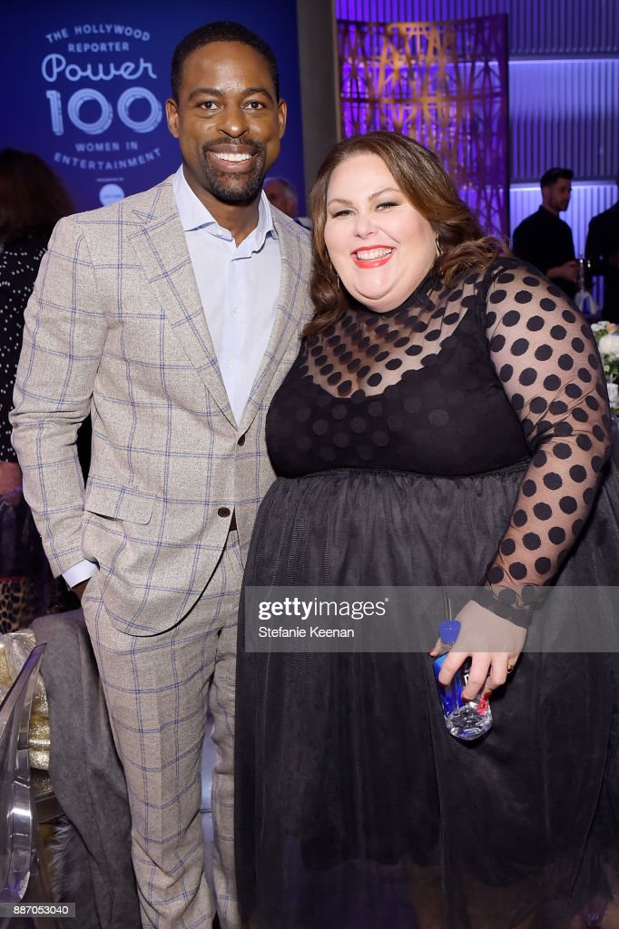 Sterling K. Brown (L) and Chrissy Metz at The Hollywood Reporter's 26th Annual Women In Entertainment Breakfast presented in partnership with FIJI Water at Milk Studios on December 6, 2017 in Los Angeles, California.