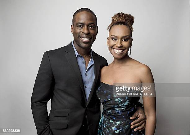 Sterling K Brown and Ryan Mic pose for a portraits at the BAFTA Tea Party at Four Seasons Hotel Los Angeles at Beverly Hills on January 7 2017 in Los...