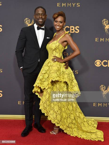 Sterling K Brown and Ryan Michelle Bathe arrive at the 69th Annual Primetime Emmy Awards at Microsoft Theater on September 17 2017 in Los Angeles...