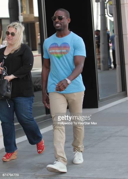 Sterling K Brown is seen on April 28 2017 in Los Angeles CA
